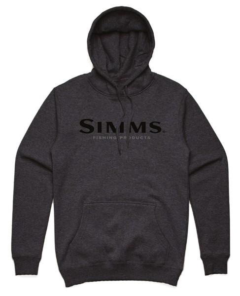 Simms Logo Hoody charcoal heather