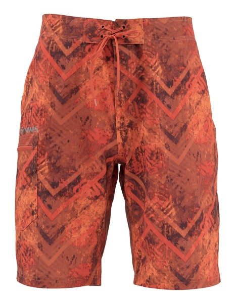 Simms Surf Shorts Prints velocity print orange