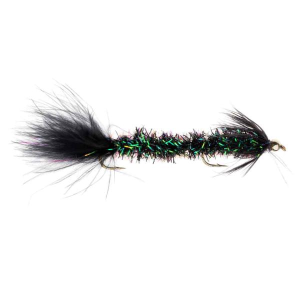 Kami Flies Streamer - Borstmask Glitter Green