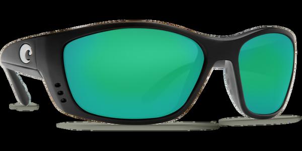 Costa Polarisationsbrille Fisch Matte Black (Green Mirror 580G)
