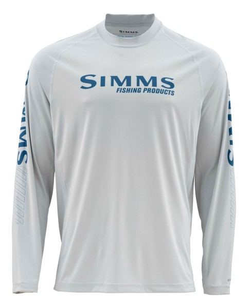 Simms Solarflex LS Crew Graphic Prints Langarmhemd fast bass sterling