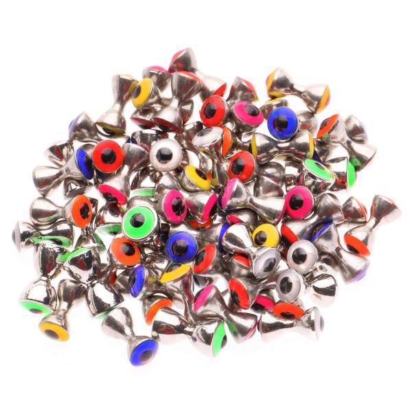Messing Dumbbells mit Augen in Silber/ T-Augen