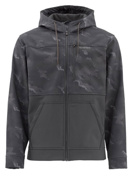 Simms Rogue Fleece Hoody hex camo carbon
