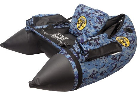 Seven Bass Design Hard Fabric Line Air Bellyboat bleu camo