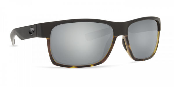 Costa Polarisationsbrille Half Moon - Matte Black/Shiny Tortoise (Gray Silver Mirror 580G)