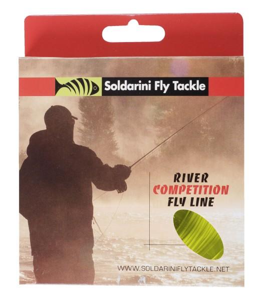 Soldarini Fly Tackle River Competition WF Fliegenschnur olive/orange