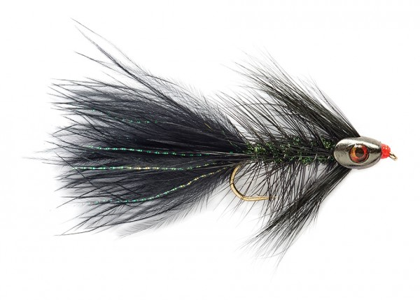 Fulling Mill Streamer - Wooly Bugger grizzly schwarz