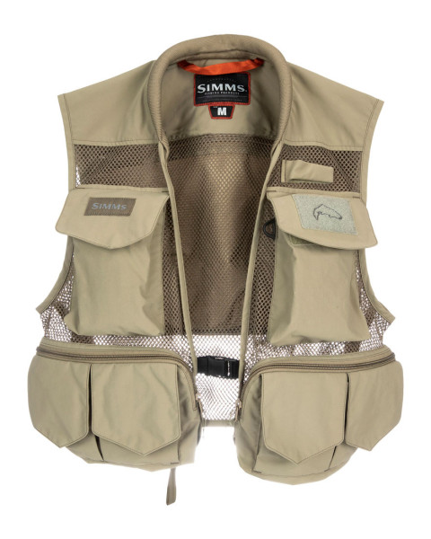 Simms Tributary Vest Weste tan