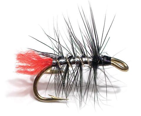 Unique Flies Meerforellen- und Lachsnassfliege - Zulu Silver Palmer black