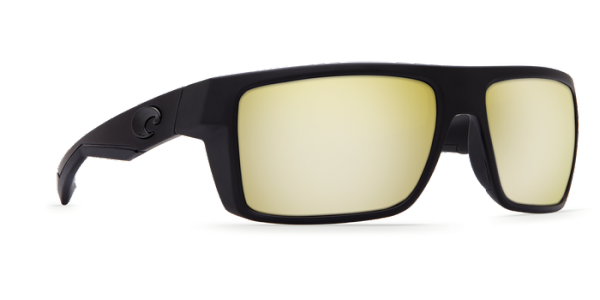 Costa Polarisationsbrille Motu Blackout (Sunrise Silver Mirror 580P) Blackout / Sunrise Silver Mirror (580P, gelb, verspiegelt)