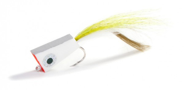Fishient H2O Streamer - NYAP Not your average popper white/olive white/olive