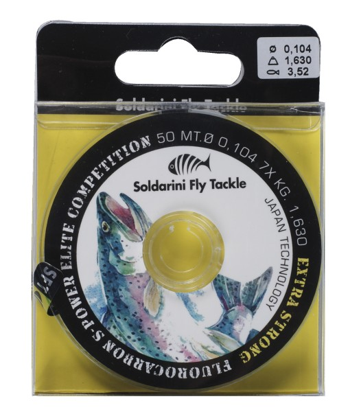Soldarini Fly Tackle Fluorocarbon S-Power Elite Competition Vorfachmaterial