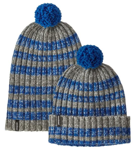 Patagonia Wool Pom Beanie Mütze ASAB Alfalfa Stripe Alpine Blue (ASAB)