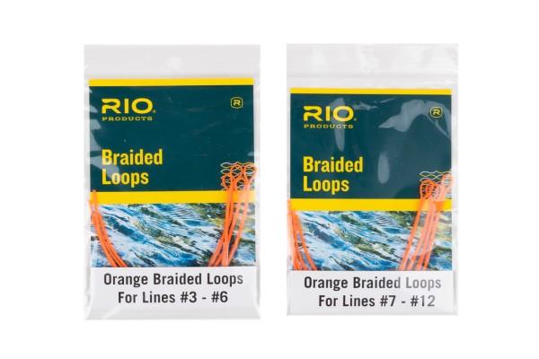 Rio Braided Loops geflochtene Schlaufe Orange
