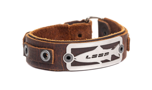 Loop Salmon Bracelet Lederarmband brown