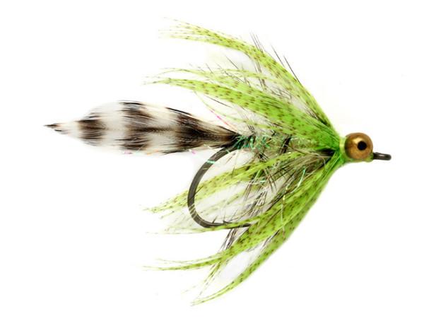 Fulling Mill Meerforellenfliege - Polar Magnus chartreuse by Claus Eriksen