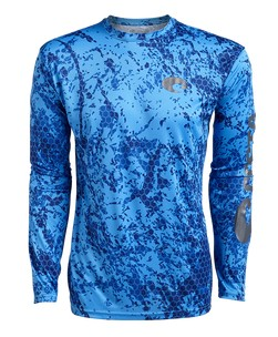 Costa Hexo Technical Langarmhemd blue blue