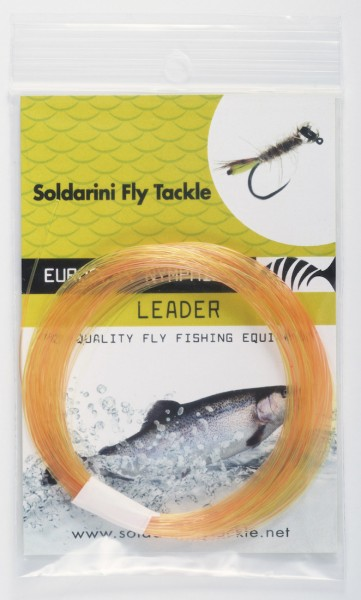 Soldarini Fly Tackle Euro Nymph Tapered Leader Nymphen-Vorfach 30 ft orange
