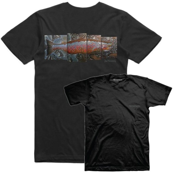 Simms DeYoung Salmon T-Shirt black
