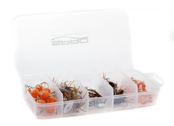 Spro S5 Transparente Fliegenbox Aufbewahrungsdose, 5 Fächer