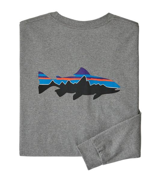 Patagonia L/S Fitz Roy Trout Responsibili-Tee Shirt GLH
