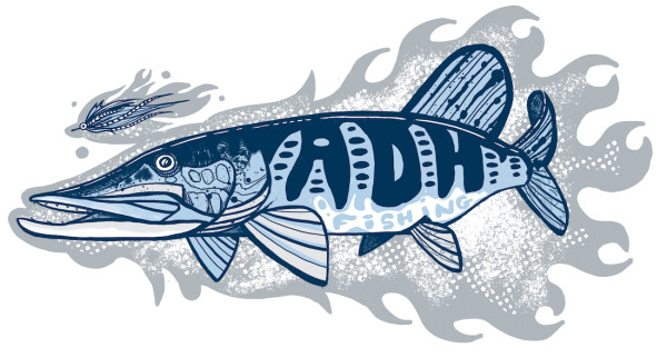 adh-fishing Pike Sticker