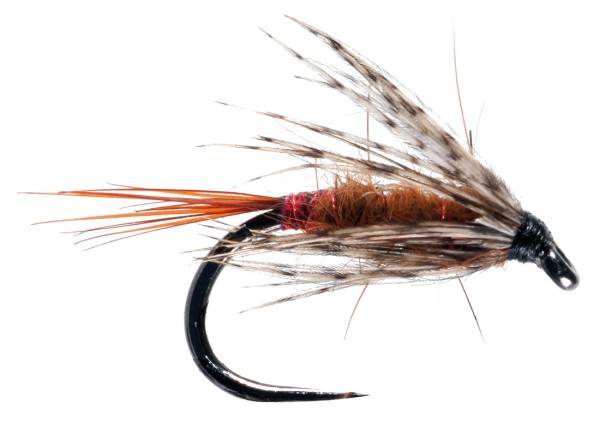 Soldarini Fly Tackle Nassfliege - Red Arsed Rusty Brown
