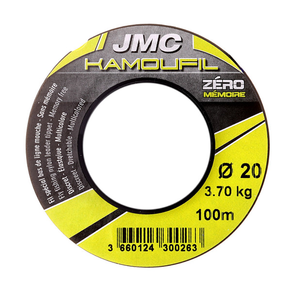 JMC Kamoufil Euro Nymph Mono 100m ECO Spool Vorfachmaterial
