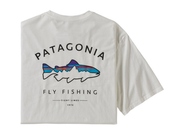 Patagonia Framed Fitz Roy Trout Organic T-Shirt WHI