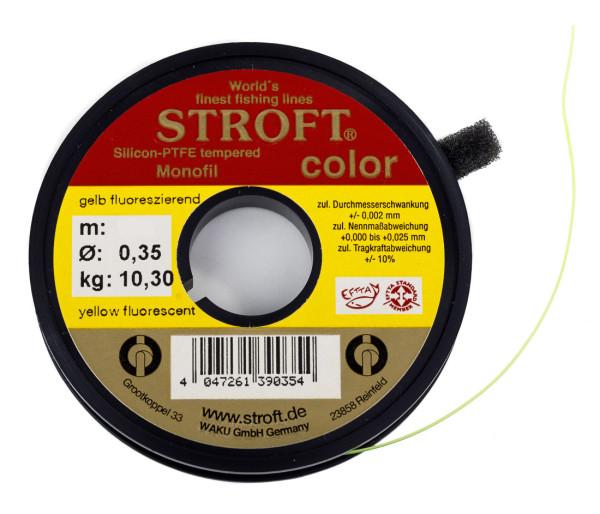 Stroft Color Vorfachmaterial Indicator Line Sichthilfe 100 m/Spule fluo gelb