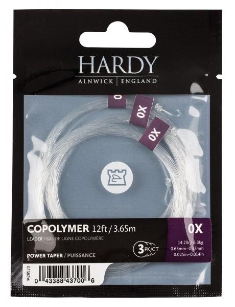 Hardy Copolymer Power Taper Leader 12ft 3er Pack