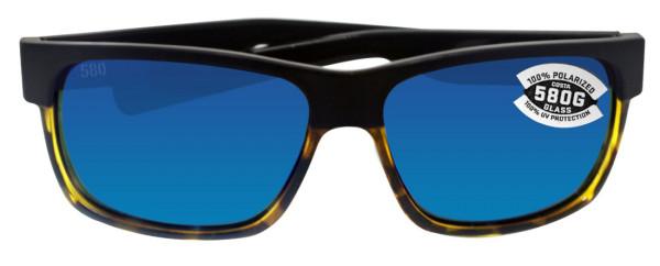Costa Polarisationsbrille Half Moon - Matte Black/Shiny Tortoise (Blue Mirror 580G)