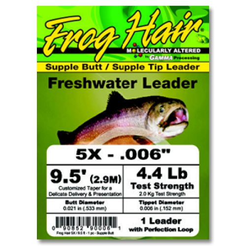 Frog Hair Freshwater Leader Vorfach