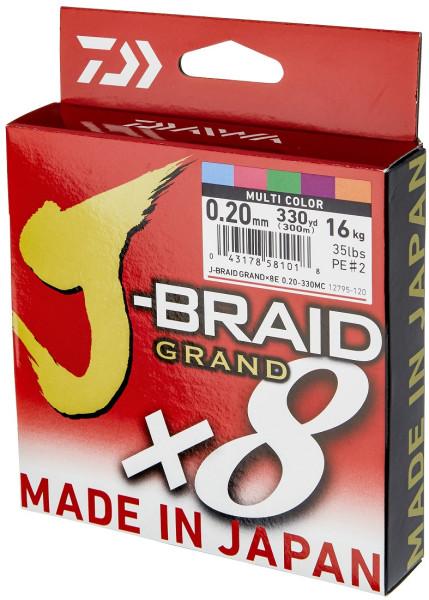 Daiwa J-Braid Grand X8E 300 m multicolor