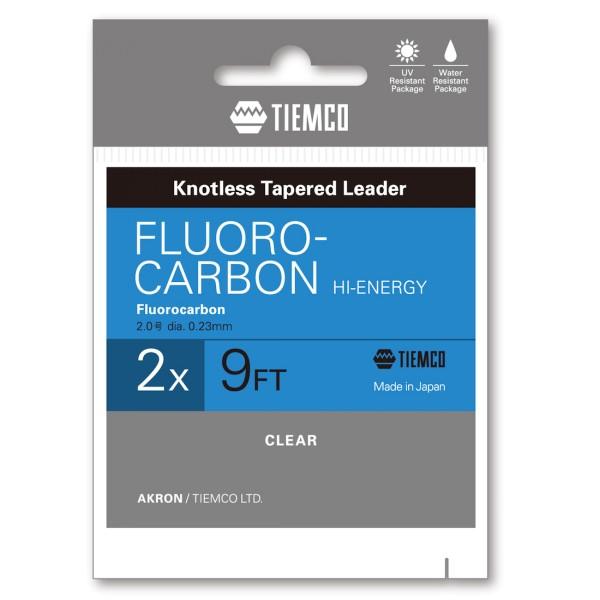 Tiemco TMC Akron konisches Fluorcarbon Vorfach 9 ft