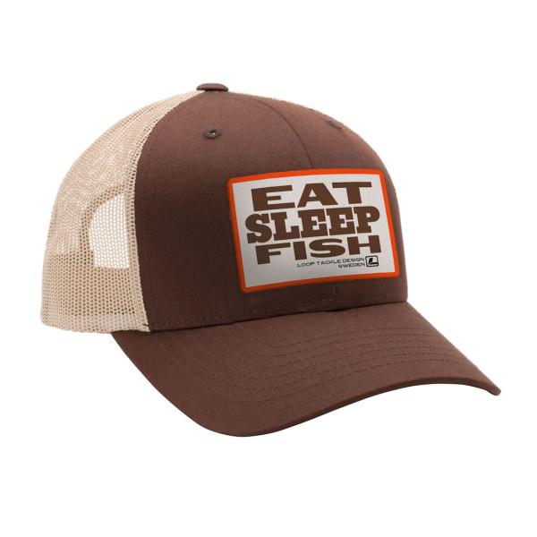 Loop Eat Sleep Fish ESF Cap brown khaki