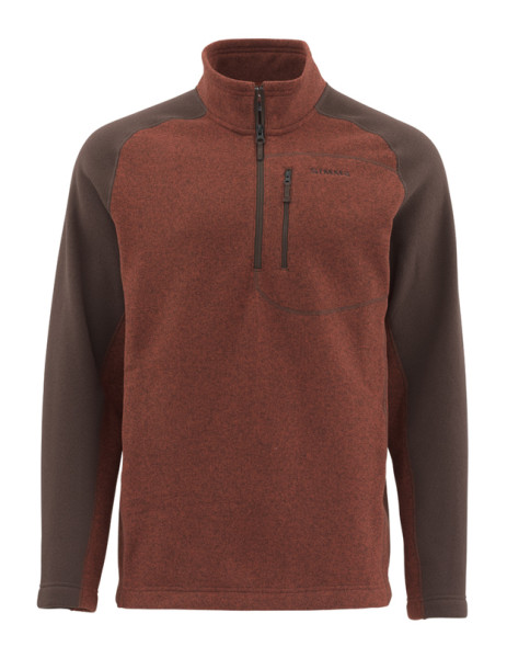 Simms Rivershed Sweater Pullover rusty red