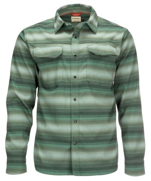 Simms Gallatin Flannel Shirt Langarmhemd moss stripe
