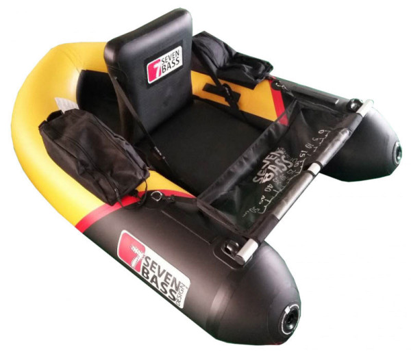 Seven Bass Design Hybrid Line Brigad Racing Bellyboat yellow & black