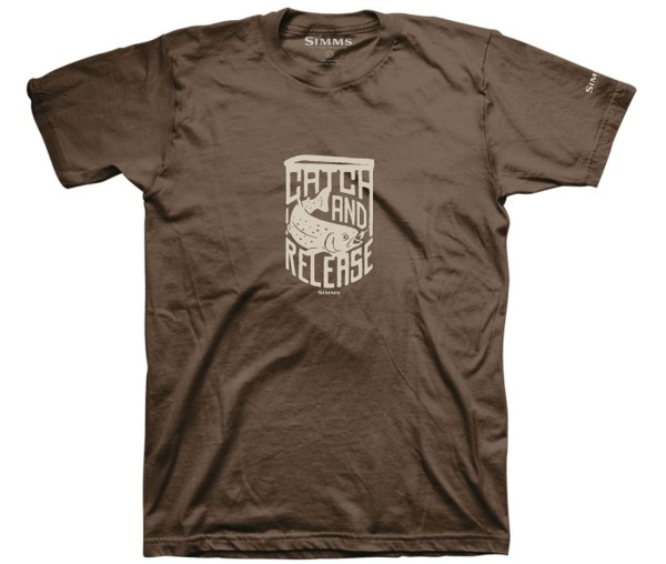 Simms Catch and Release T-Shirt brown