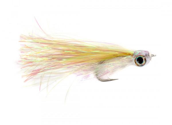 Fish Skull Streamer - Masked Minnow white/green