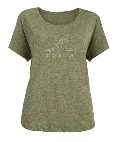 Costa Womens Crest T-Shirt military green
